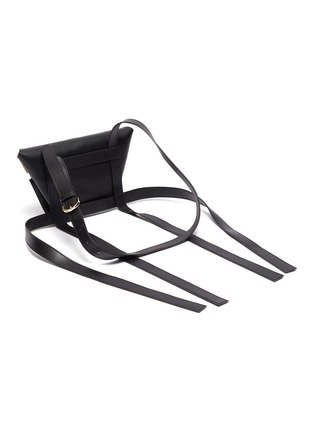 Detail View - Click To Enlarge - KHAORE - 'Baby Carrier' trapezoid crossbody bag