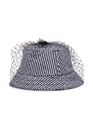 Main View - Click To Enlarge - BERNSTOCK SPEIRS - Veil stripe bucket hat