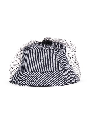Figure View - Click To Enlarge - BERNSTOCK SPEIRS - Veil stripe bucket hat