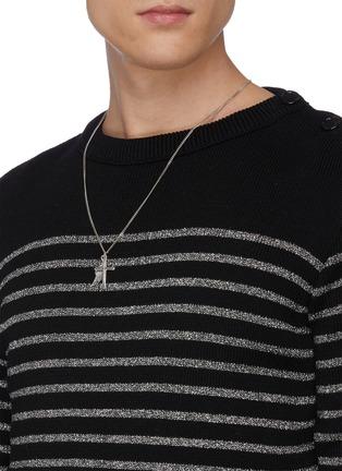 Figure View - Click To Enlarge - EMANUELE BICOCCHI - Double cross necklace
