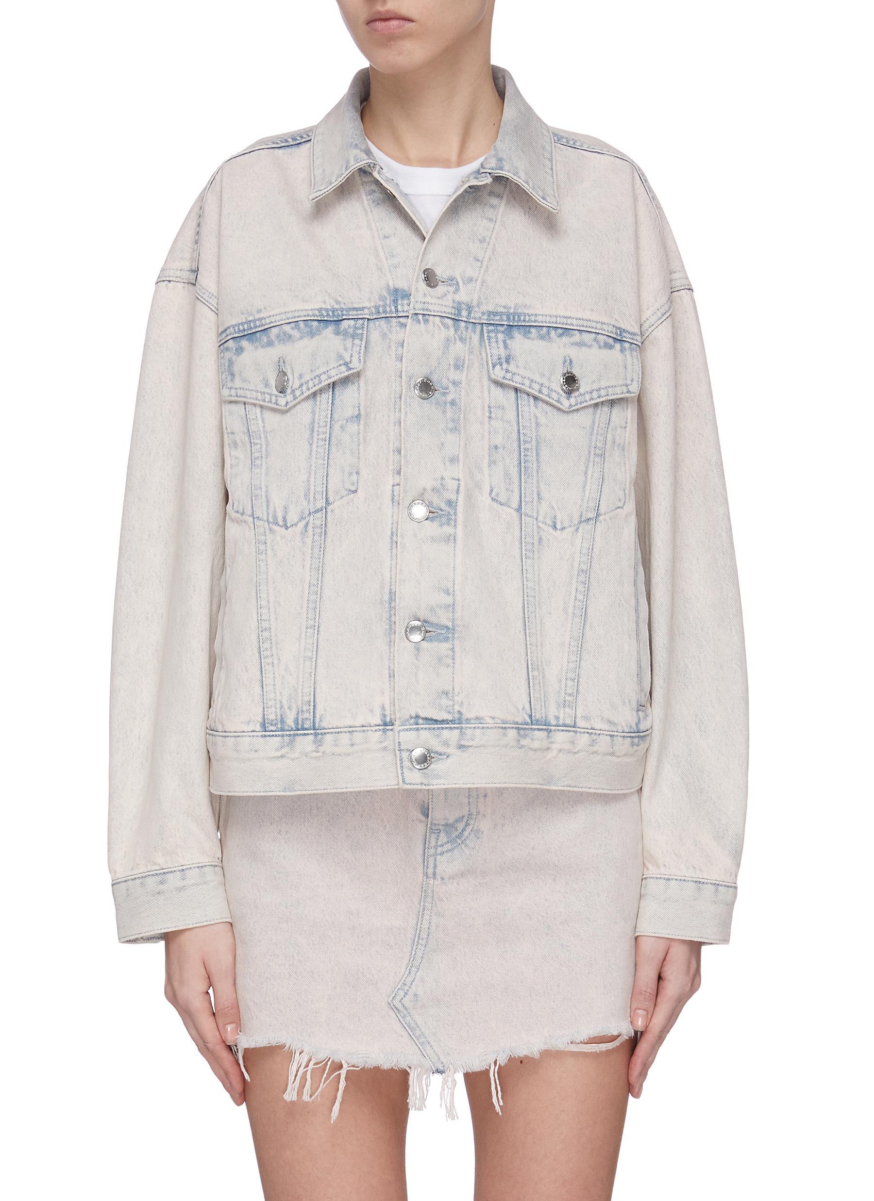 Buy Alexander Wang Jackets 'Game' acid wash denim jacket