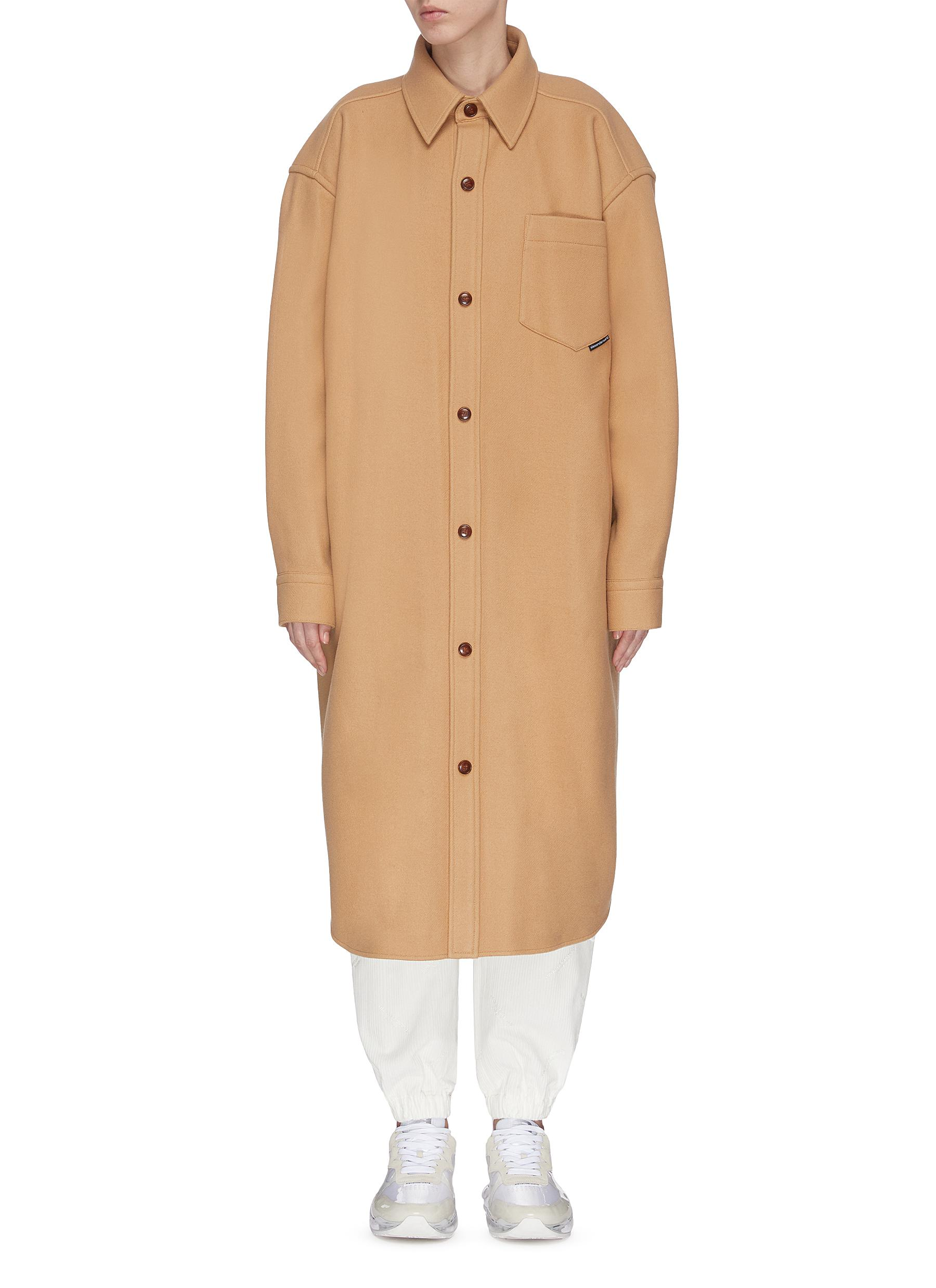 shop Alexander Wang Oversized shirt coat online