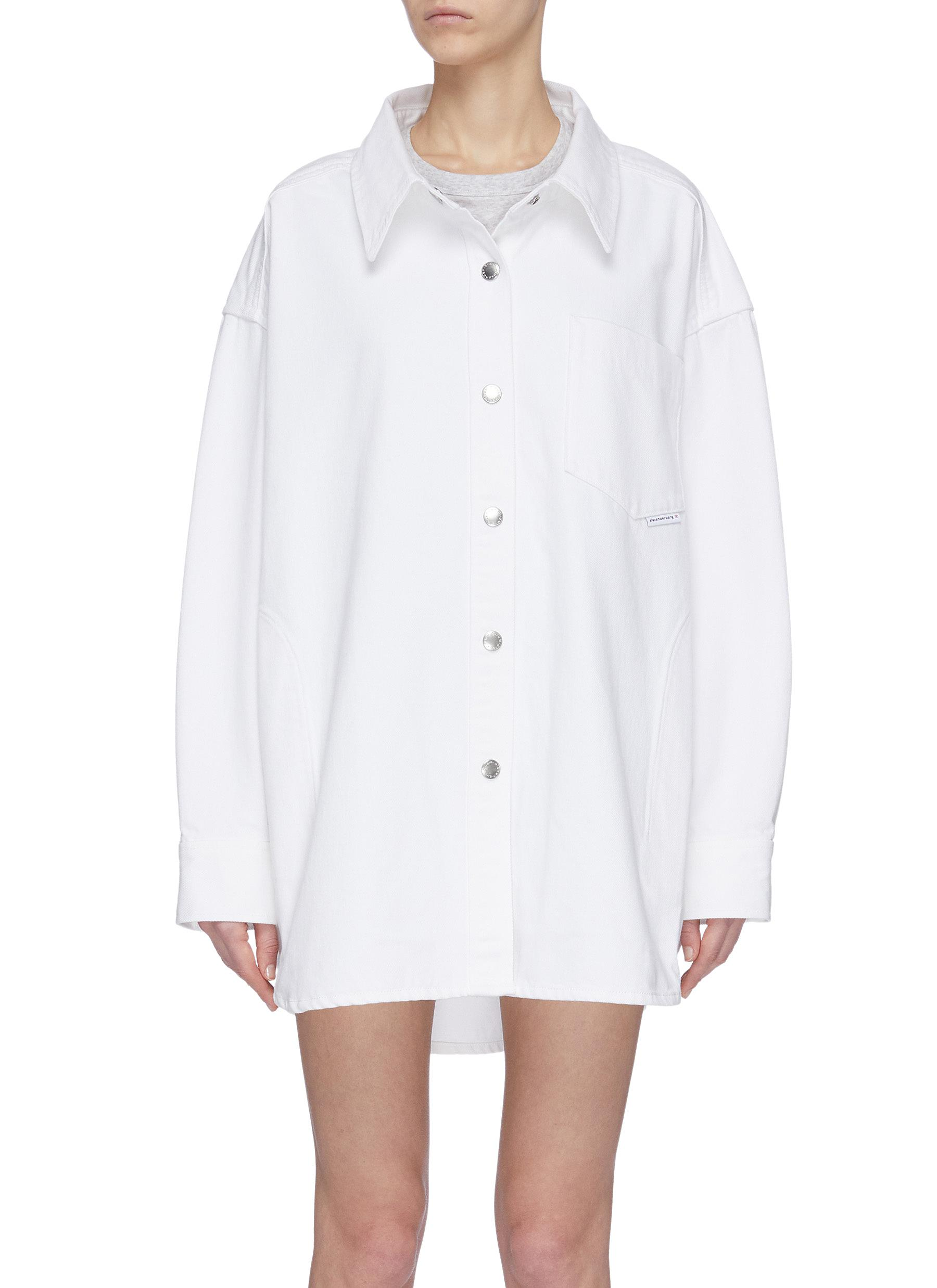 shop Alexander Wang 'Runway' long snap button shirt jacket online