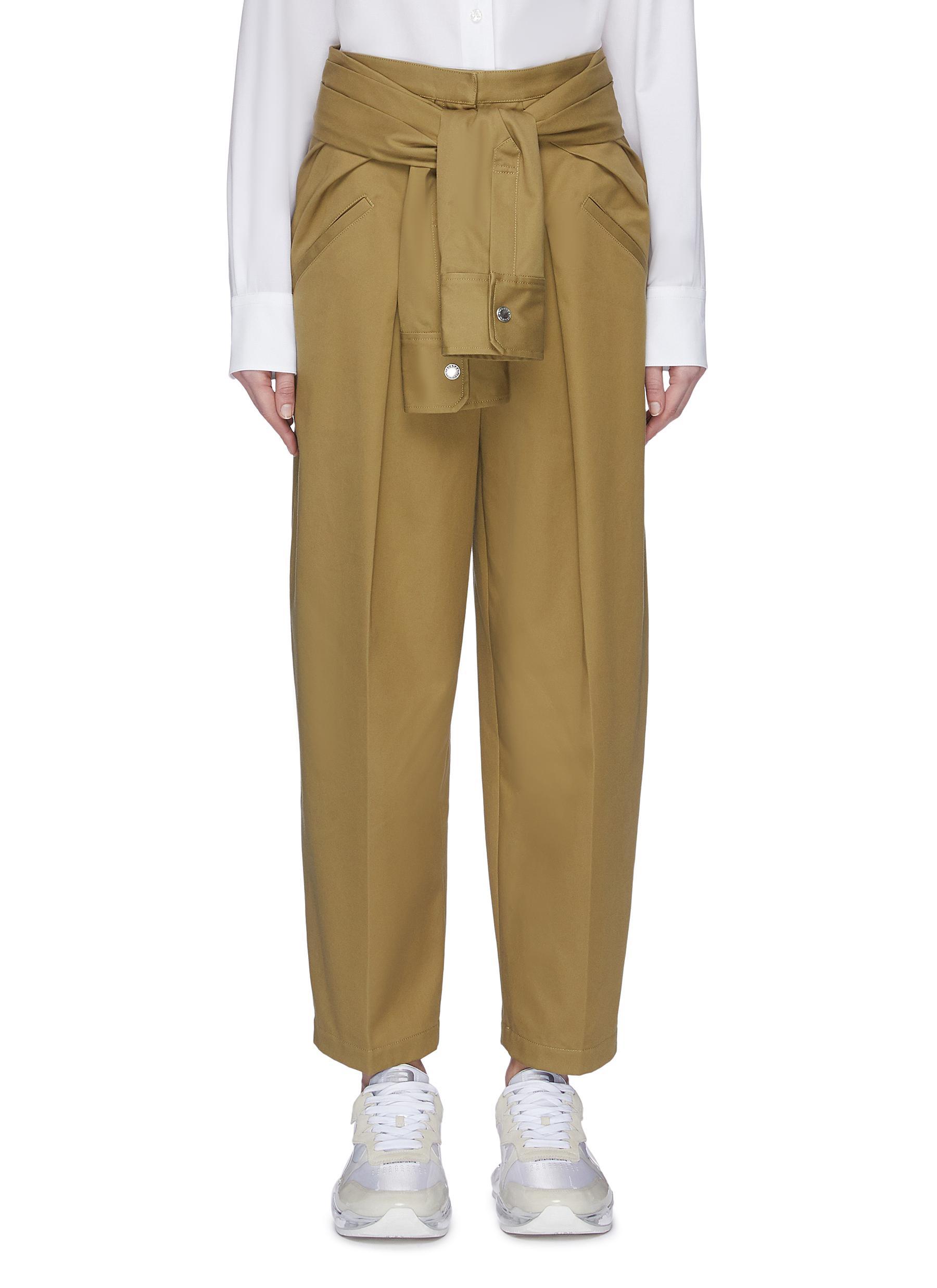 shop Alexander Wang Tie front waist pants online
