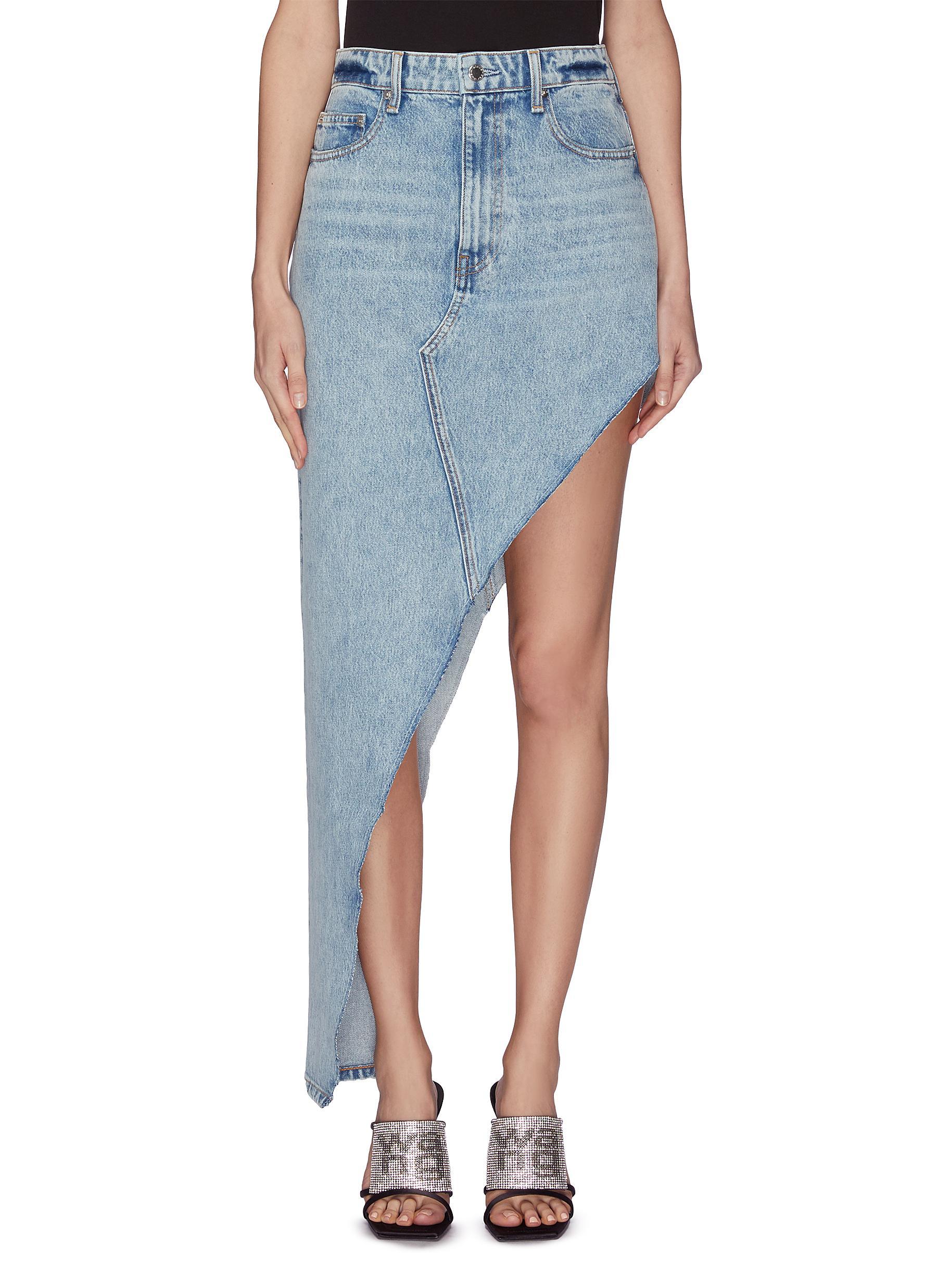 shop Alexander Wang 'Runway' asymmetrical denim skirt online