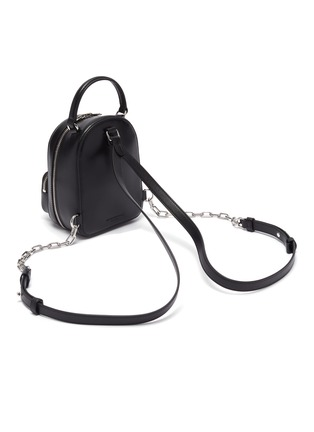 Detail View - Click To Enlarge - ALEXANDER WANG - 'Attica' top handle leather mini backpack