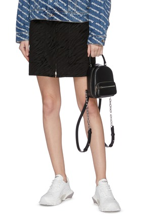 Front View - Click To Enlarge - ALEXANDER WANG - 'Attica' top handle leather mini backpack
