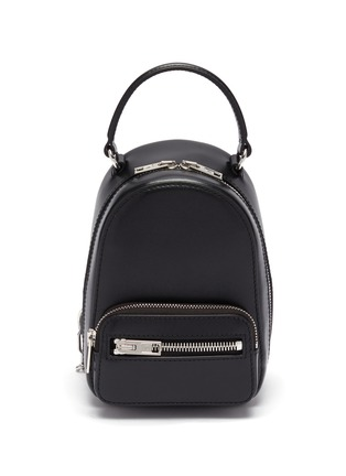 Main View - Click To Enlarge - ALEXANDER WANG - 'Attica' top handle leather mini backpack