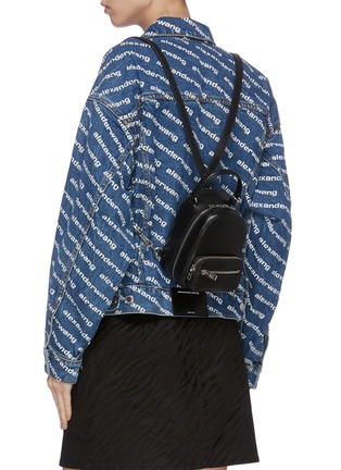 Figure View - Click To Enlarge - ALEXANDER WANG - 'Attica' top handle leather mini backpack