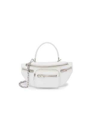 Main View - Click To Enlarge - ALEXANDER WANG - 'Attica' top handle croc-embossed leather mini belt bag
