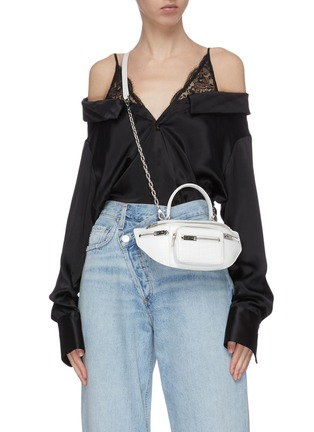 Figure View - Click To Enlarge - ALEXANDER WANG - 'Attica' top handle croc-embossed leather mini belt bag