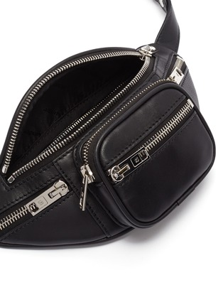 Detail View - Click To Enlarge - ALEXANDER WANG - 'Attica' double leather mini belt bag