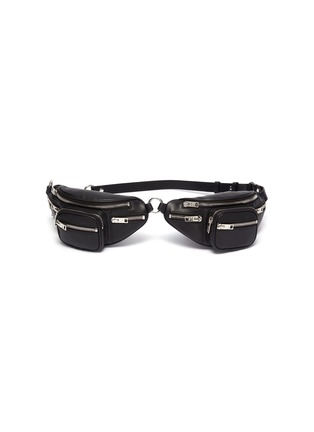 Main View - Click To Enlarge - ALEXANDER WANG - 'Attica' double leather mini belt bag
