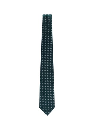 Figure View - Click To Enlarge - ISAIA - Coral jacquard silk tie
