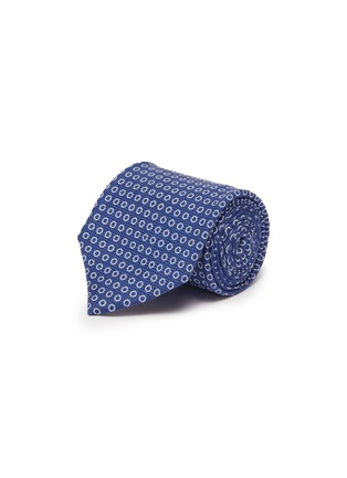 Main View - Click To Enlarge - ISAIA - Circle print cotton silk tie