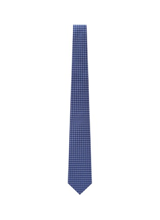 Figure View - Click To Enlarge - ISAIA - Circle print cotton silk tie