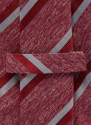 Detail View - Click To Enlarge - ISAIA - Bicolour strip jacquard silk tie