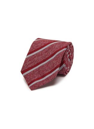 Main View - Click To Enlarge - ISAIA - Bicolour strip jacquard silk tie