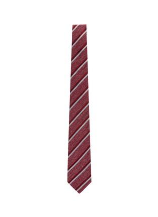 Figure View - Click To Enlarge - ISAIA - Bicolour strip jacquard silk tie