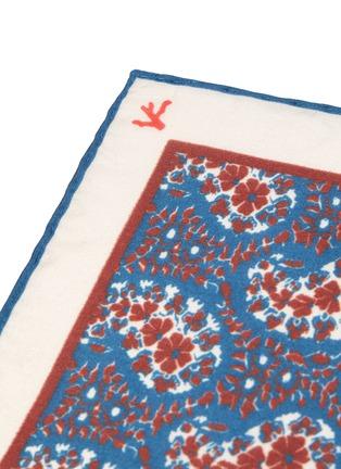 Detail View - Click To Enlarge - ISAIA - Paisley print silk pocket square