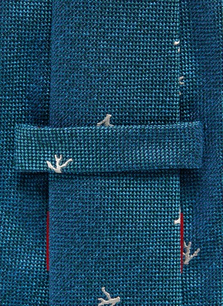 Detail View - Click To Enlarge - ISAIA - Coral jacquard silk tie
