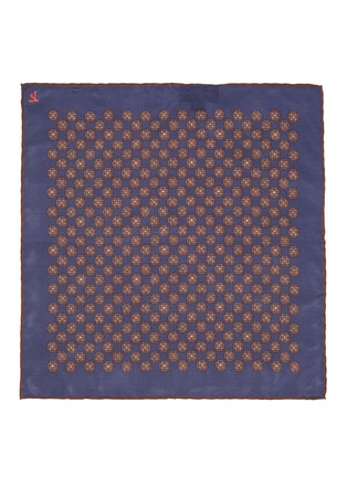 Detail View - Click To Enlarge - ISAIA - All-over medallion print silk pocket square