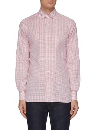 Main View - Click To Enlarge - ISAIA - 'Parma' checked shirt