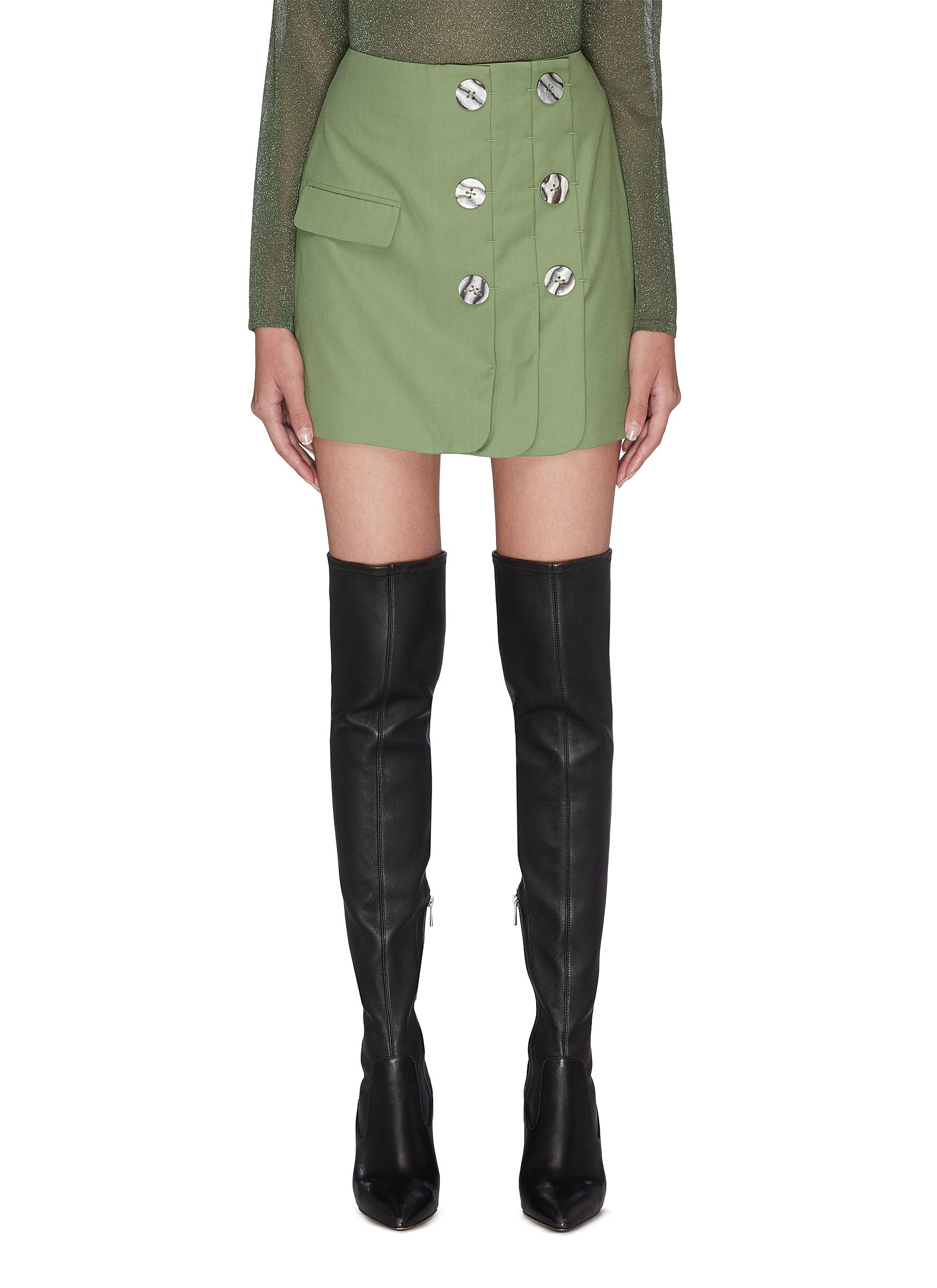 Buy C/Meo Collective Skirts 'Just the same' double button A-line mini skirt