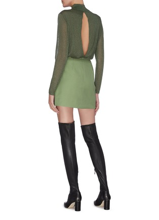 Figure View - Click To Enlarge - C/MEO COLLECTIVE - 'Just the same' double button A-line mini skirt