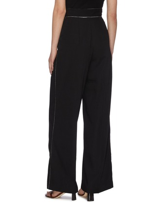 "Back View - Click To Enlarge - C/MEO COLLECTIVE - ""Origin' piping detail wide tailoring pants"