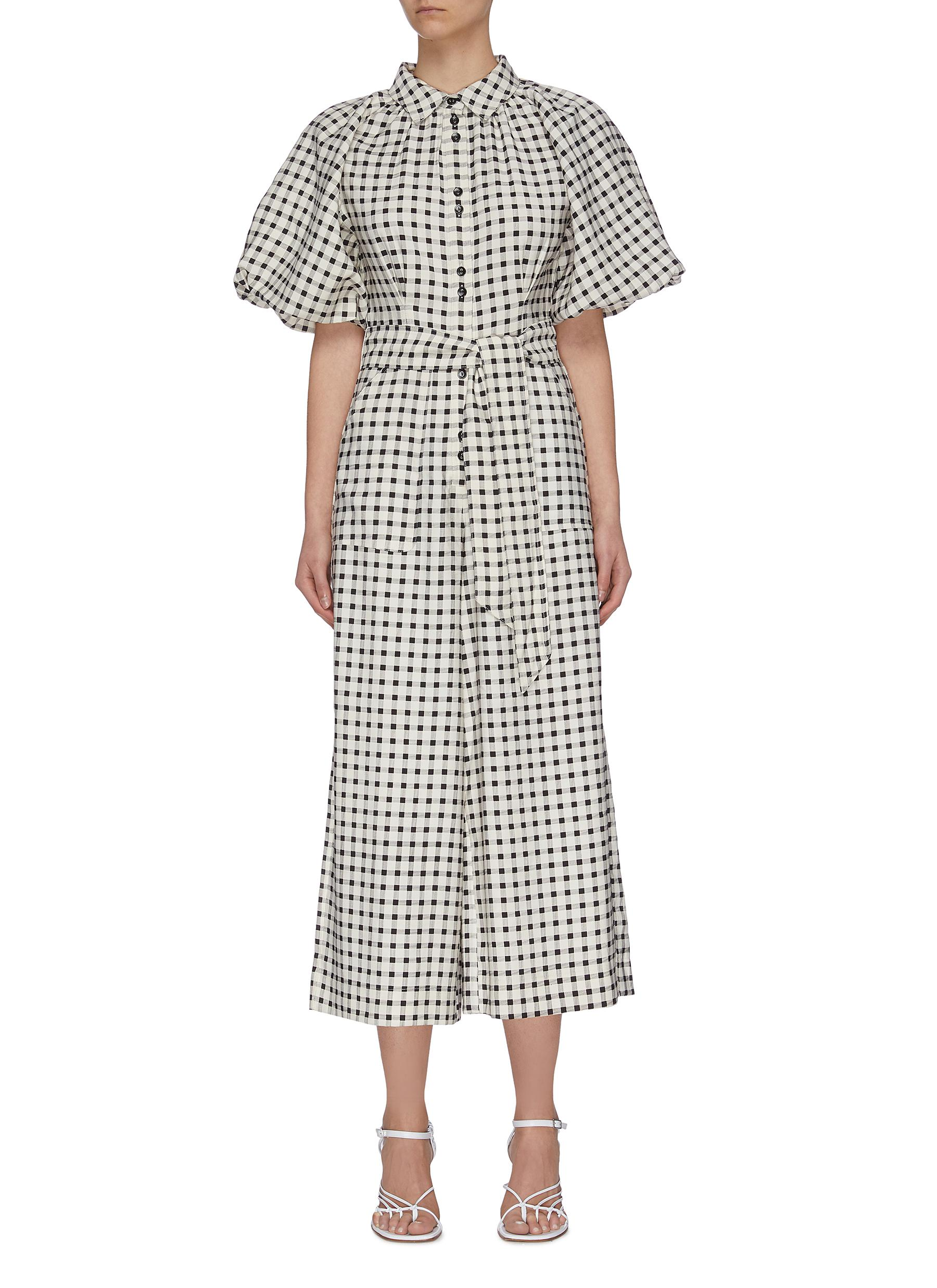 "shop C/Meo Collective ""Inhale' gingham check jumpsuit online"