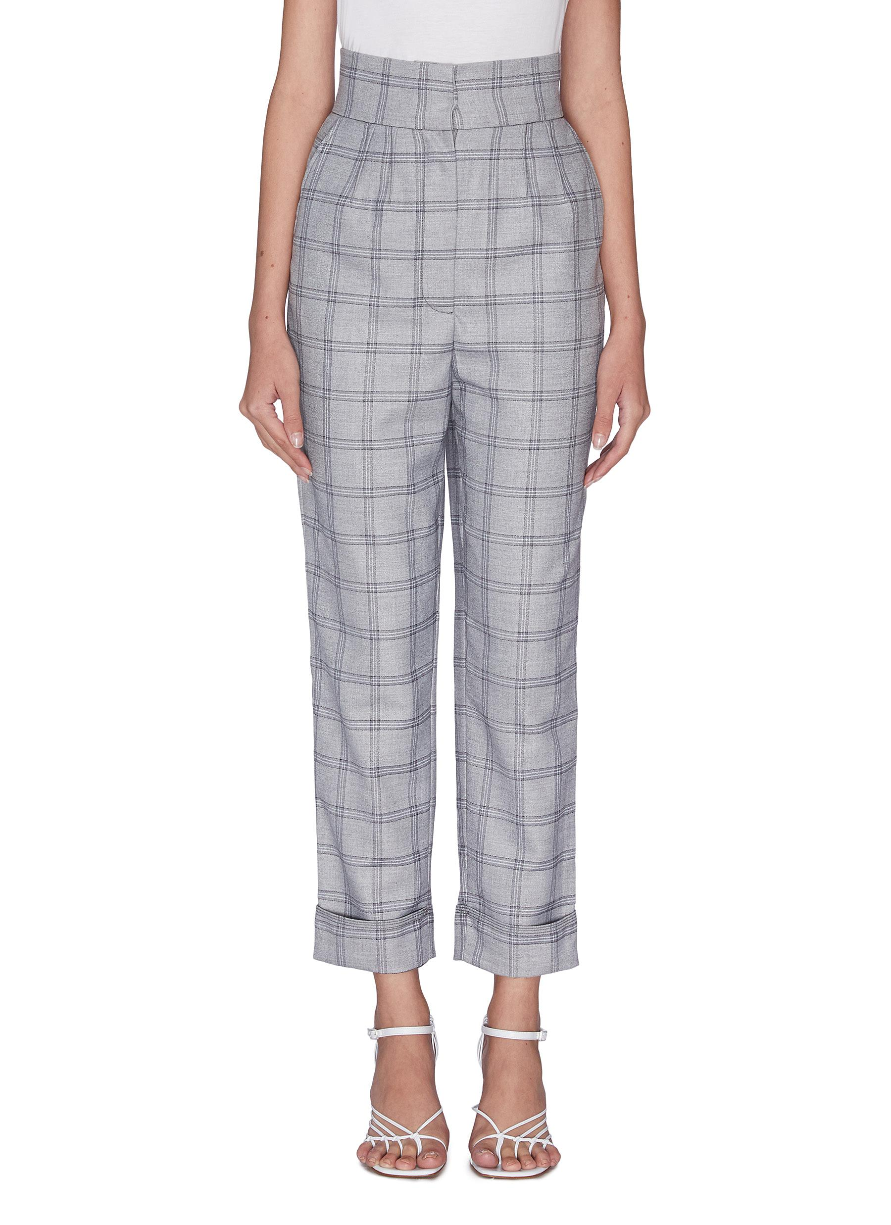 """Buy C/Meo Collective Pants & Shorts """"Light on' exposed dart check tailor pants"""