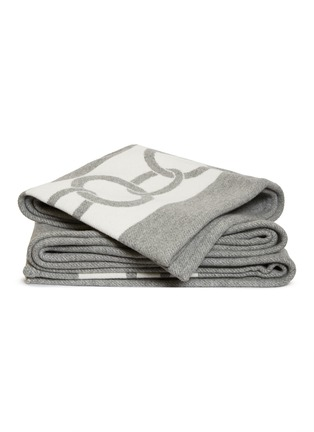 Main View - Click To Enlarge - FRETTE - Chains Throw – Grey/Milk