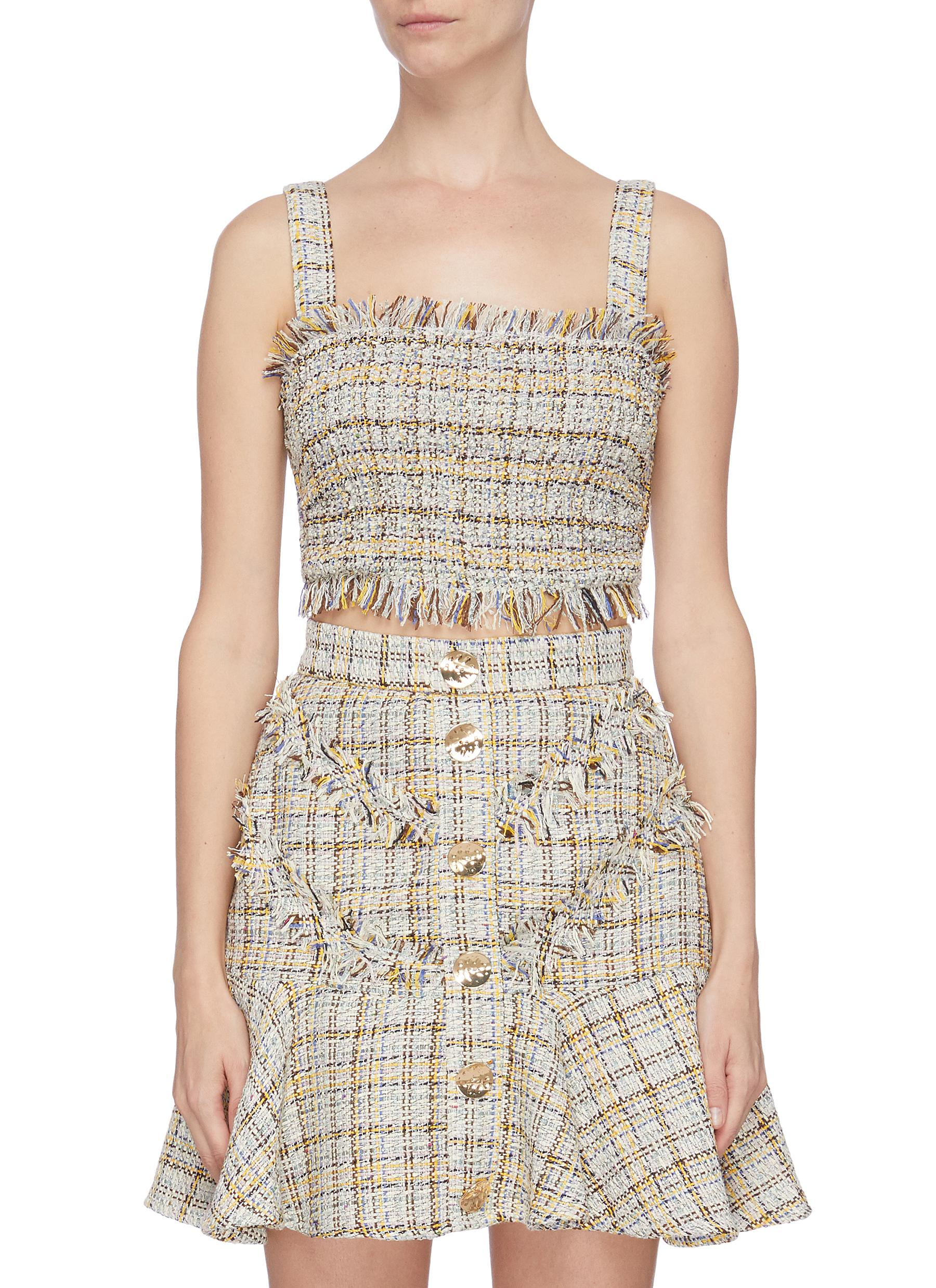 Buy C/Meo Collective Tops 'For Your Love' strappy tweed top