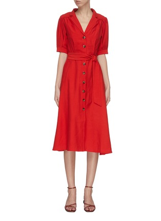 Main View - Click To Enlarge - C/MEO COLLECTIVE - 'New Places' maxi shirt dress