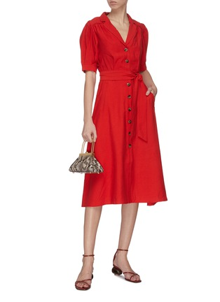 Figure View - Click To Enlarge - C/MEO COLLECTIVE - 'New Places' maxi shirt dress