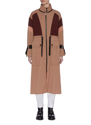 Main View - Click To Enlarge - MONCLER - 'Zinzolin' colourblock military zip up coat