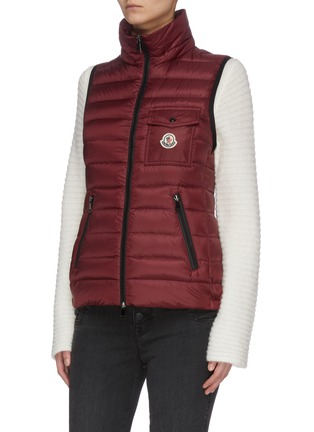 Detail View - Click To Enlarge - MONCLER - 'Glycine' hooded puffer zip-up vest