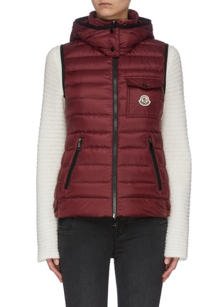 Main View - Click To Enlarge - MONCLER - 'Glycine' hooded puffer zip-up vest