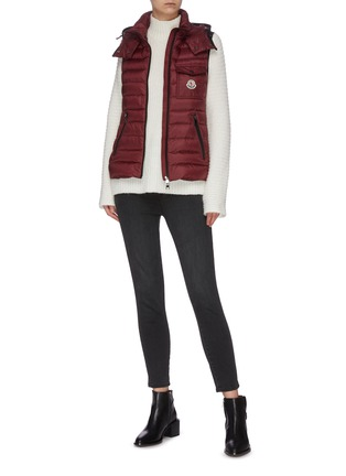 Figure View - Click To Enlarge - MONCLER - 'Glycine' hooded puffer zip-up vest