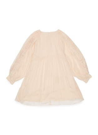 Figure View - Click To Enlarge - CHLOÉ - 'Ceremony' lace sleeve panelled botanical motif dress