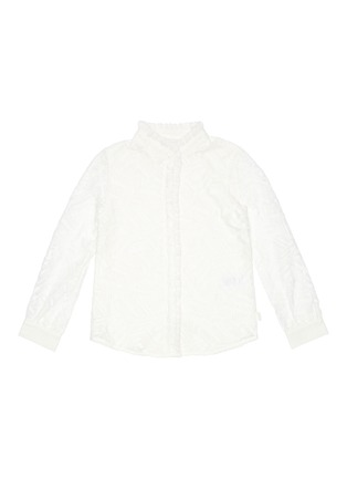 Main View - Click To Enlarge - CHLOÉ - Geometric lace ruffle collar blouse