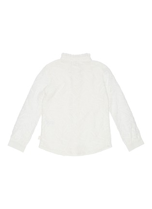 Figure View - Click To Enlarge - CHLOÉ - Geometric lace ruffle collar blouse