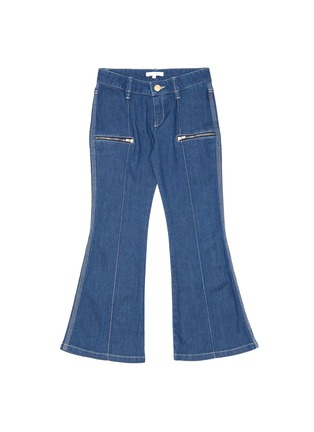 Main View - Click To Enlarge - CHLOÉ - Zip pocket contrast stitch flare jeans