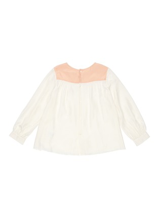 Figure View - Click To Enlarge - CHLOÉ - Stud embroidered yoke silk blouse