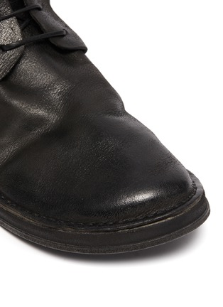 Detail View - Click To Enlarge - MARSÈLL - Distressed leather military track boots