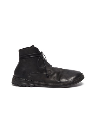 Main View - Click To Enlarge - MARSÈLL - Distressed leather military track boots