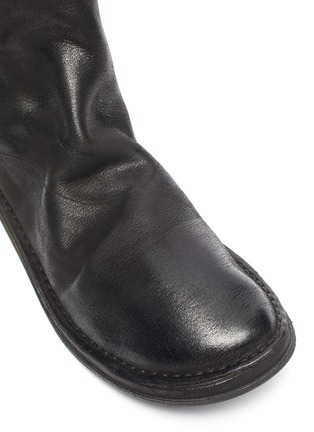 Detail View - Click To Enlarge - MARSÈLL - Distressed leather zip boots