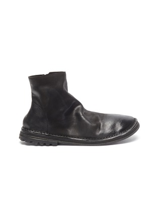 Main View - Click To Enlarge - MARSÈLL - Distressed leather zip boots