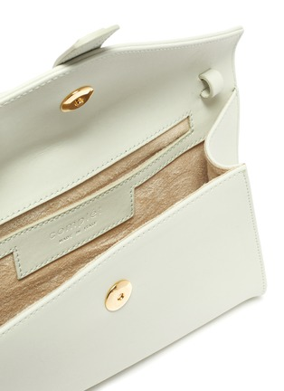 Detail View - Click To Enlarge - COMPLÉT - 'Valery' ring handle mini leather envelope clutch